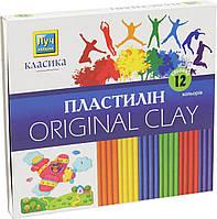 """Пластилин для лепки """"Луч Классика"""" 12 цветов для детей (детский)  Ц259021У"""