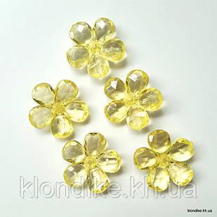 Серединки Цветочки,  d - 2.4 см, Цвет: Желтый (10 шт.)