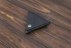 Монетница ручной работы из кожи Краст VOILE cn1-kblk, фото 2