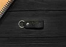 Монетница ручной работы из кожи Краст VOILE cn1-kblk, фото 3