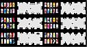 Набор трафаретов 20 шт. для nail art №3, фото 3