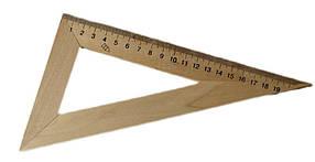 Трикутник дерев'яний 22 см 60х90х30, Ц351029У