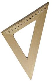 Трикутник дерев'яний 16 см 45х45 1х100, 103021