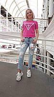 Новинка!!!Стильные джинсы с цветами , фото 1