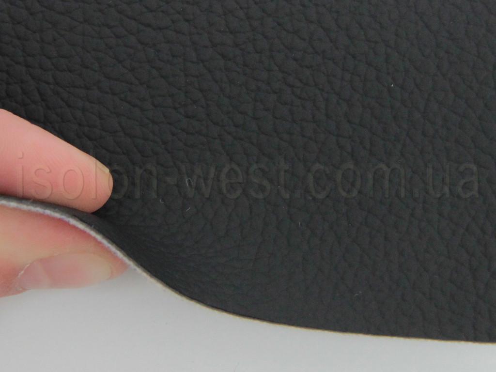 Авто кожзам, черный на тканевой основе