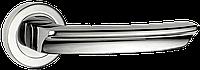 Siba дверная ручка на круглой розетке Braga, хром