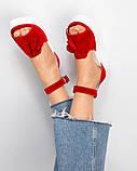 Босоножки женские  с кисточками  красные, фото 5