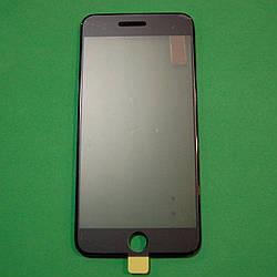 Стекло корпуса для Apple iPhone 6 Plus с рамкой,OCA пленкой,поляризационной пленкой, черное