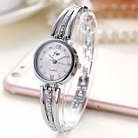 Часы женские JW наручные кварцевые, браслет с нержавеющей стали, хром