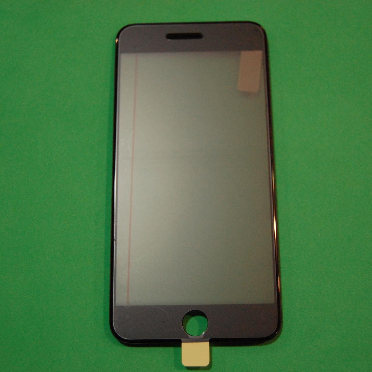 Стекло корпуса для Apple iPhone 6S Plus с рамкой,OCA пленкой,поляризационной пленкой, черное