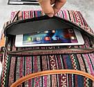 Рюкзак жіночий з візерунком в етно стилі синій., фото 3