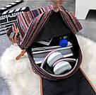 Рюкзак жіночий з візерунком в етно стилі синій., фото 4