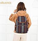 Рюкзак жіночий з візерунком в етно стилі синій., фото 2