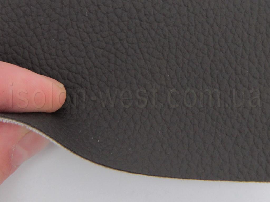 Авто кожзам темно-коричневый, на тканевой основе