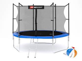 Батут Hop-Sport 10ft (305cm) blue з внутрішньої сіткою для будинку і спортзалу
