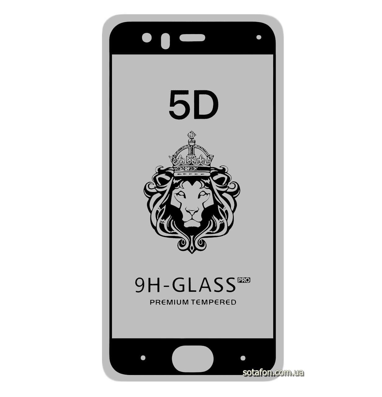 Защитное стекло 5D Full Glue для Xiaomi Mi6 Black (Screen Protector 0,3 мм)