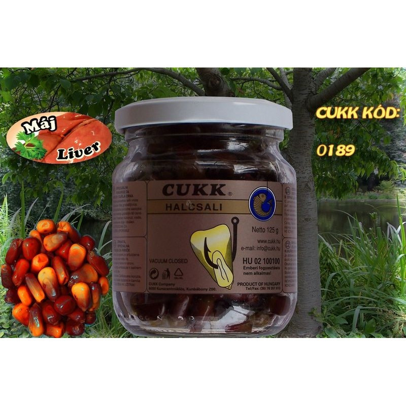 Кукуруза Cukk Ливер (коричневый) Крашенная в стекл.банках 220мл(мокрая)