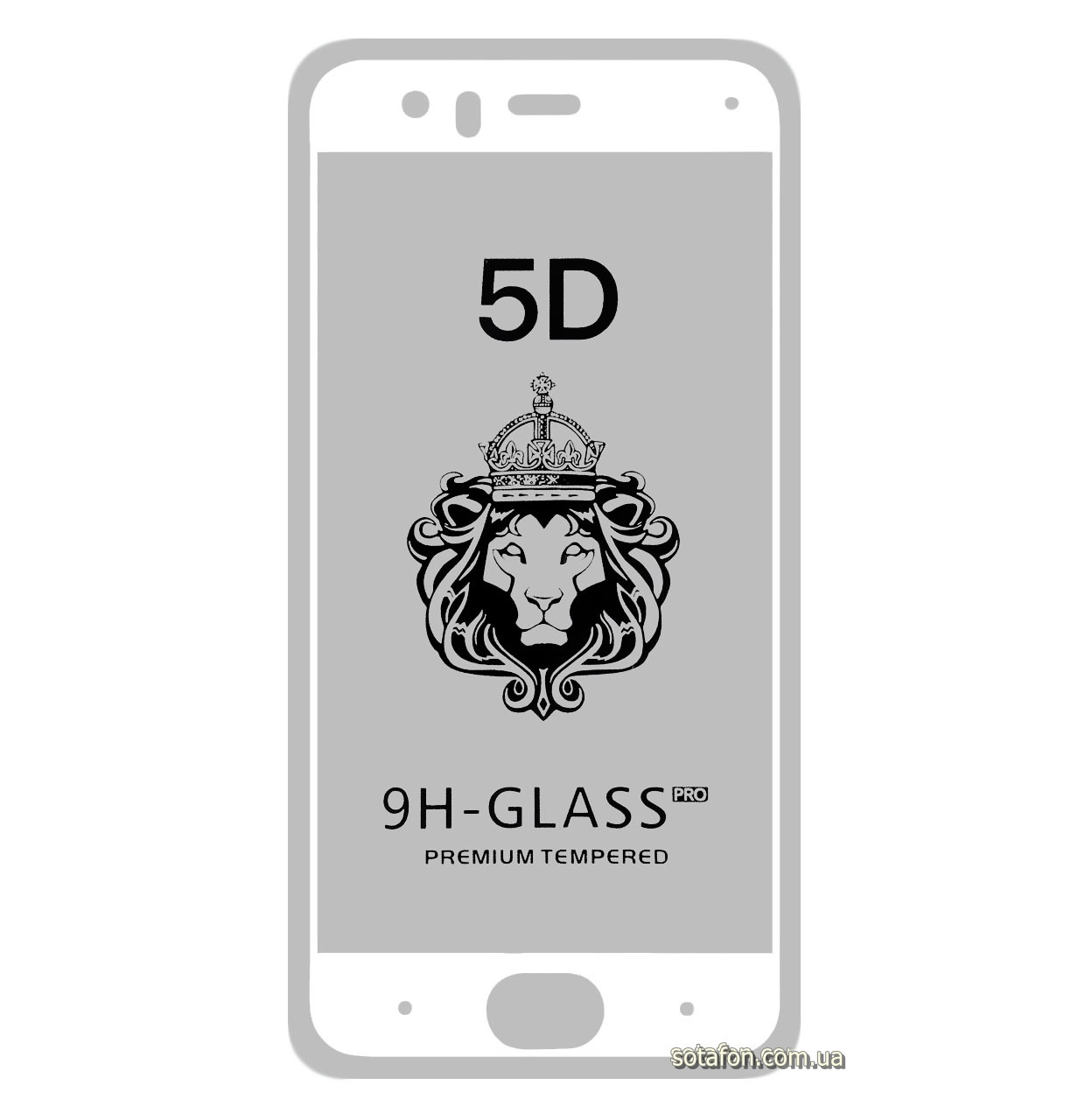 Защитное стекло 5D Full Glue для Xiaomi Mi6 White (Screen Protector 0,3 мм)