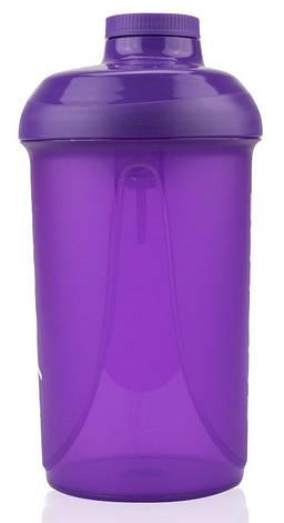 Шейкер фиолетовый 500 мл, фото 2