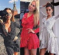 """женское летнее платье в горошек   (жіноча сукня ) """"Джули"""" 3 цвета, фото 1"""