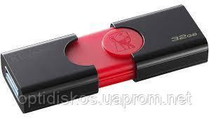 Флешка Kingston Flash Drive DT106 32Gb, USB 3.0, черный + красный