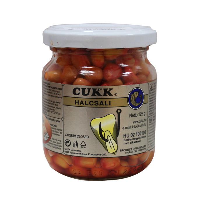 Кукуруза Cukk Чеснок (светло-розовый) Крашенная в стекл.банках 220мл(мокрая)
