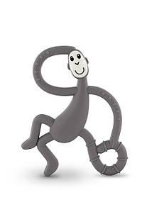 Іграшка-прорізувач Танцююча Мавпочка для дітей з 3-х міс. (14 см) ТМ MATCHISTICK MONKEY Сірий MM-DMT-001