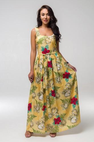 Платье летнее Магнолия ППМ 2203 жёлтый