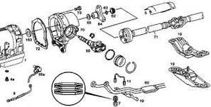 Детали трансмиссии Mercedes-Benz Vito 638,639,Viano