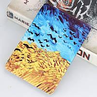 Обложка Slim Printed Van Gogh для Amazon Kindle Paperwhite (2018) 10th Gen (Пшеничное поле с воронами)