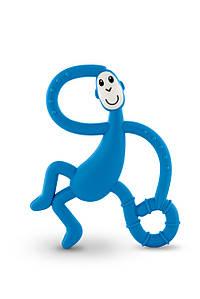 Іграшка-прорізувач Танцююча Мавпочка для дітей з 3-х міс. (14 см) ТМ MATCHISTICK MONKEY Синій MM-DMT-002