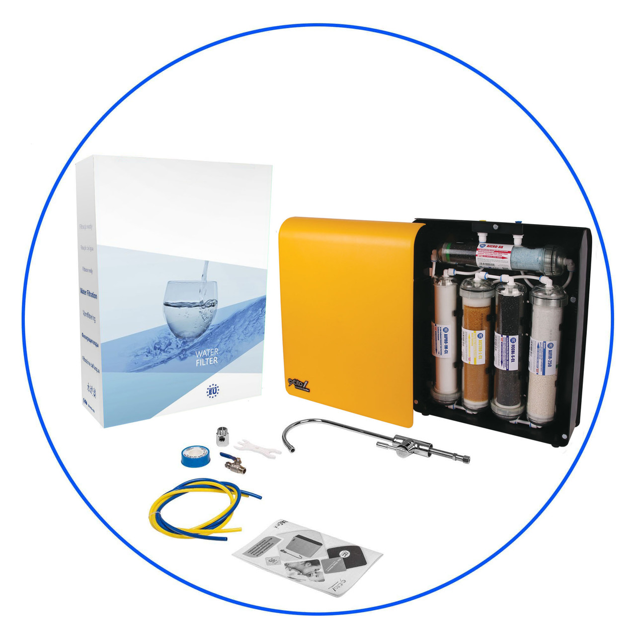 Cистема фильтрации воды Aquafilter EXCITO-CL (2 в 1 алкализер и 5-ти ступенчатая система фильтрации)
