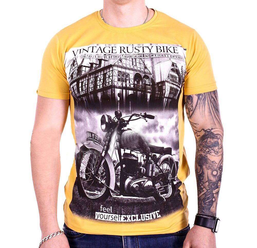 Футболка StrongMan Bike f1929/2 Желтая M