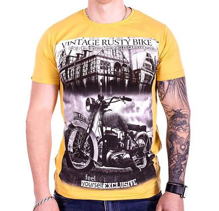 Футболка StrongMan Bike f1929/2 Желтая M, фото 2