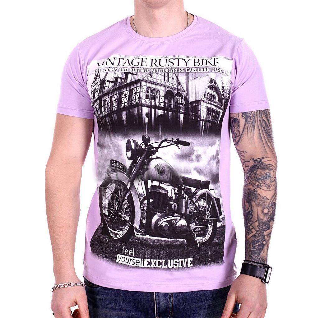 Футболка StrongMan Bike f1929/6 Фиолетовая L