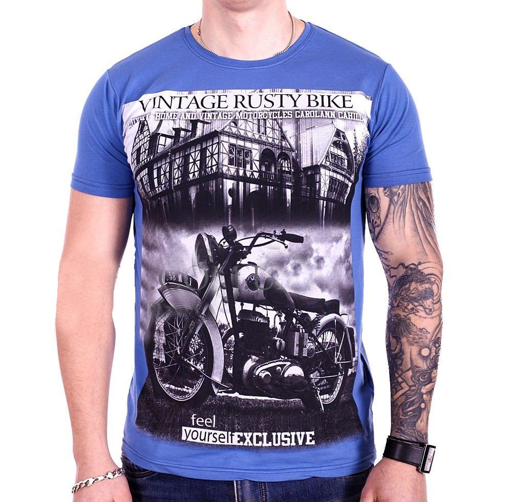 Футболка StrongMan Bike f1929/10 Синяя M