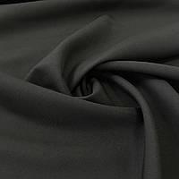 Габардин однотонный черный, ширина 150 см