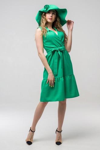 Платье летнее Вероника ППВ 2151 зелёный
