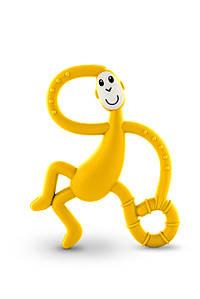 Іграшка-прорізувач Танцююча Мавпочка для дітей з 3-х міс. (14 см) ТМ MATCHISTICK MONKEY Жовтий MM-DMT-006