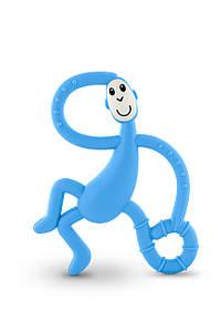 Іграшка-прорізувач Танцююча Мавпочка для дітей з 3-х міс. /14 см ТМ MATCHISTICK MONKEY Блакитний MM-DMT-007