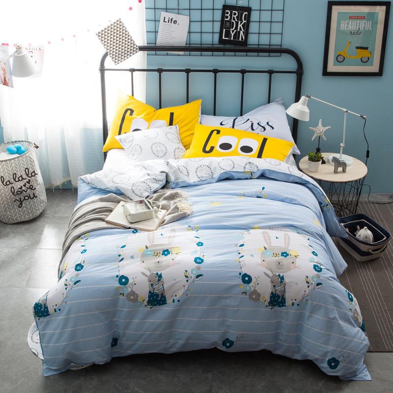 Комплект постельного белья Кролик в венке (двуспальный-евро) Berni
