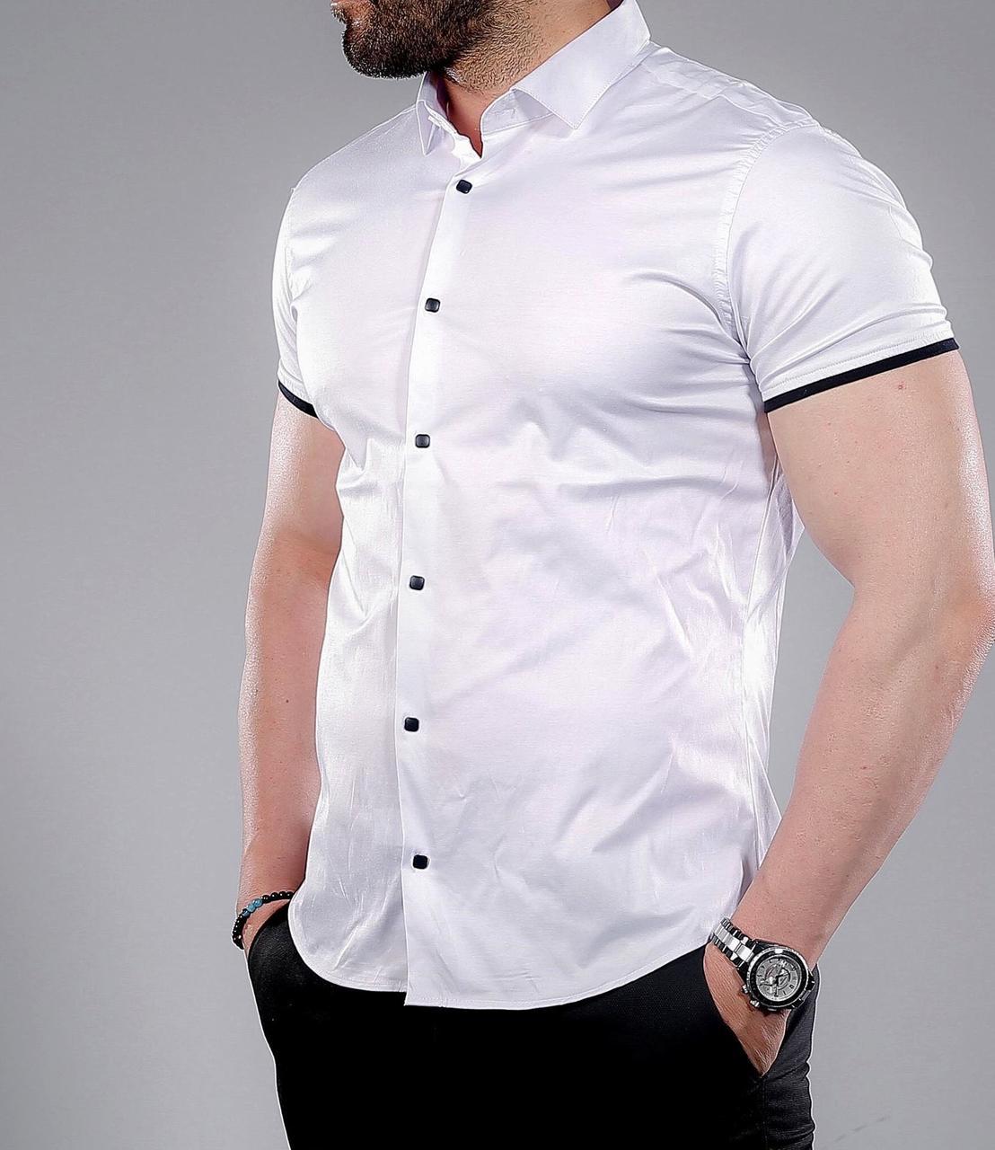 Купить рубашку с коротким рукавом мужскую