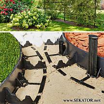 Пластиковий бордюр Geoborder 4,5*100 см (Польща), фото 2