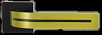 Siba дверная ручка на квадратной розетке Kometa, черная\золото матовое