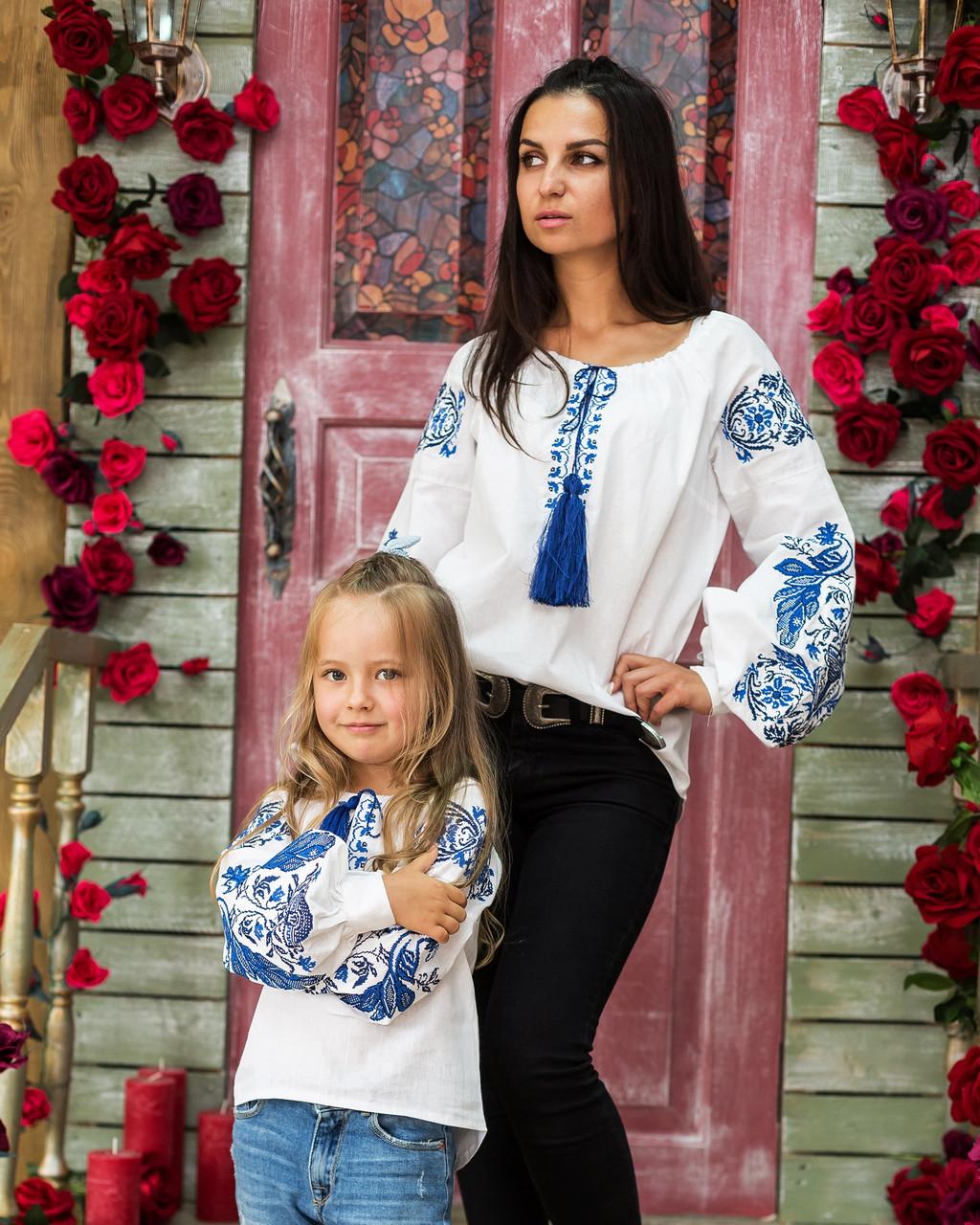 Комплект вышиванок мама + дочка Жар Птица