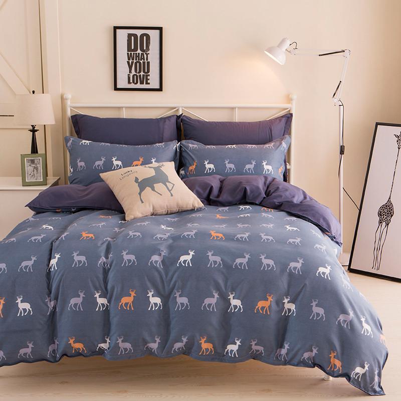 Комплект постельного белья Северный олень (двуспальный-евро) Berni