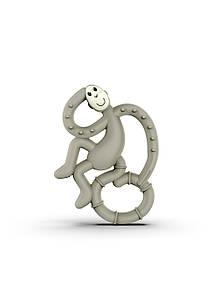 Дитяча іграшка-грызушка Маленька танцююча Мавпочка (10 см) ТМ MATCHISTICK MONKEY Сірий MM-ММТ-001