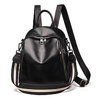Женский городской рюкзак - сумка. Стильные женские рюкзаки в трех цветах: красный, черный, коричневый.