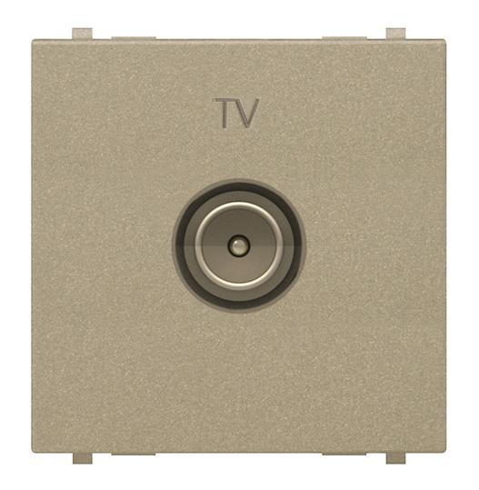 Розетка TV, шампань, Zenit ABB NIESSEN N2250.7 CV, 2 модуля