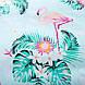 Комплект постельного белья Фламинго в цветах (двуспальный-евро) Berni, фото 4